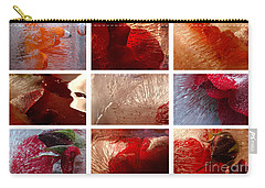 Flower Collage Horisontal Carry-all Pouch by Randi Grace Nilsberg