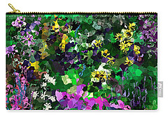 Carry-all Pouch featuring the digital art Flower Garden by David Lane