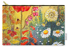 Flower Garden Carry-all Pouch by Katherine Miller