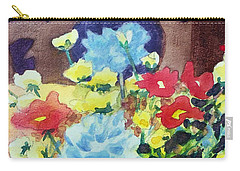 Carry-all Pouch featuring the painting Flower In The Dell by Kathy Braud