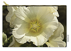 Flower Petals Of A White Flower Carry-all Pouch by Ashish Agarwal