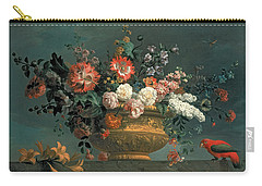 Flower Piece With Parrot Carry-all Pouch
