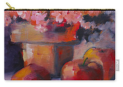 Flower Pot And Apples Carry-all Pouch by Michelle Abrams