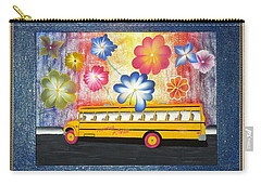 Carry-all Pouch featuring the painting Flower Power by Ron Davidson
