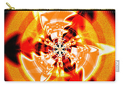 Carry-all Pouch featuring the drawing Flower Vectors Of Life by Derek Gedney