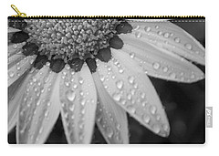 Flower Water Droplets Carry-all Pouch