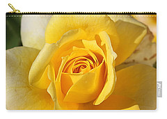 Flower-yellow Rose-delight Carry-all Pouch by Joy Watson