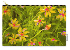 Carry-all Pouch featuring the painting Flowerfield by Go Van Kampen