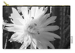 Flowering Cactus 5 Bw Carry-all Pouch