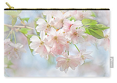 Carry-all Pouch featuring the photograph Flowering Cherry Tree Blossoms by Jennie Marie Schell