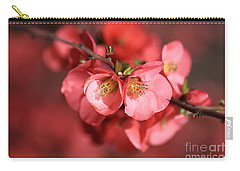 Flowering Quince Carry-all Pouch by Joy Watson