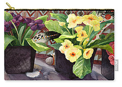 Flowers And Eagle Feathers Carry-all Pouch