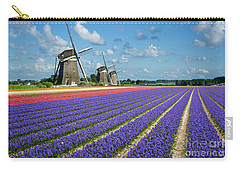 Landscape In Spring With Flowers And Windmills In Holland Carry-all Pouch