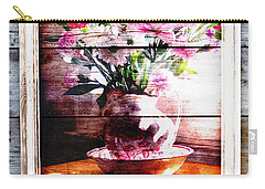 Flowers And Wood Carry-all Pouch