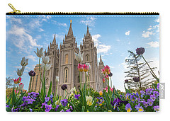Flowers At Temple Square Carry-all Pouch