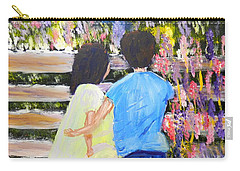 Flowers For Her Carry-all Pouch by Pamela  Meredith