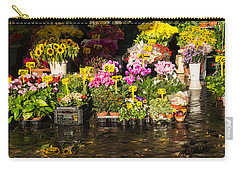 Flowers For Sale At Campo De Fiori - My Favourite Market In Rome Italy Carry-all Pouch