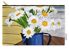Carry-all Pouch featuring the painting Flowers In A Teapot by Laura Forde