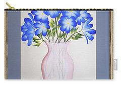 Flowers In A Vase Carry-all Pouch by Ron Davidson