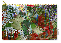 Carry-all Pouch featuring the digital art Flowers In Bloom by Liane Wright