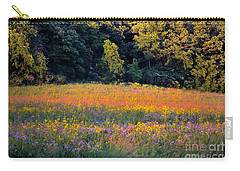 Flowers In The Meadow Carry-all Pouch by Deb Halloran