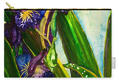 Flowers In Your Hair II Carry-all Pouch by Lil Taylor