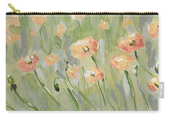 Carry-all Pouch featuring the painting California Poppies by Maria Langgle
