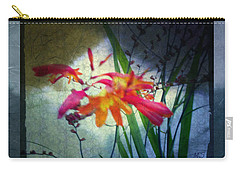 Carry-all Pouch featuring the digital art Flowers On Parchment by Absinthe Art By Michelle LeAnn Scott