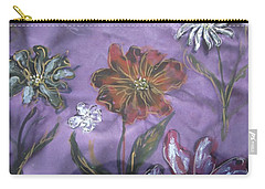 Flowers On Silk Carry-all Pouch