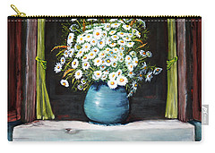 Flowers On The Ledge Carry-all Pouch