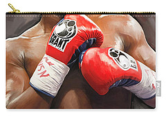 Floyd Mayweather Artwork Carry-all Pouch by Sheraz A