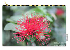 Carry-all Pouch featuring the photograph Fluffy Pink Flower by Sergey Lukashin