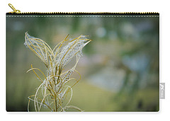 Fluffy Weed Close-up Against Blurry Background Carry-all Pouch by Vlad Baciu