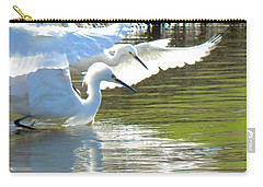 Carry-all Pouch featuring the photograph Flurry by Deb Halloran