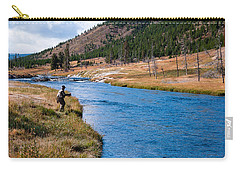 Fly Fishing In Yellowstone  Carry-all Pouch by Lars Lentz