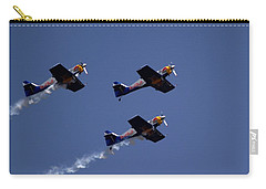 Carry-all Pouch featuring the photograph Flying Bulls by Ramabhadran Thirupattur