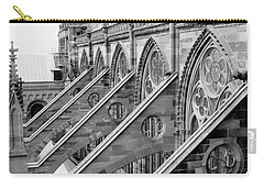 Flying Buttresses Bw Carry-all Pouch