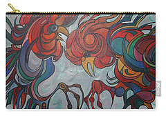 Flying Feathers Carry-all Pouch by Tracey Harrington-Simpson