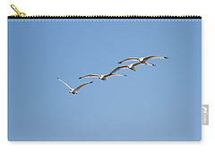Carry-all Pouch featuring the photograph Flying Formation by John M Bailey