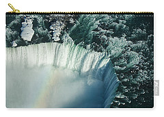 Flying Over Icy Niagara Falls Carry-all Pouch by Georgia Mizuleva