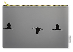 Carry-all Pouch featuring the photograph Flying Silhouettes by John M Bailey