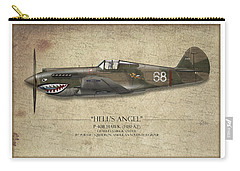 Flying Tiger P-40 Warhawk - Map Background Carry-all Pouch
