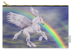 Flying Unicorn And Rainbow Carry-all Pouch