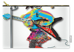 Carry-all Pouch featuring the digital art Flying V Girl by Marvin Blaine