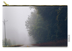 Fog On Highway Carry-all Pouch