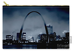 Fog Over St Louis Monochrome Carry-all Pouch