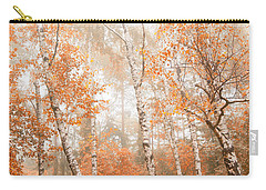 Foggy Autumn Aspens Carry-all Pouch by Eti Reid