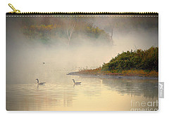 Foggy Autumn Swim Carry-all Pouch by Elizabeth Winter