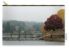 Carry-all Pouch featuring the photograph Foggy Day In October by E Faithe Lester