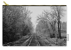 Foggy Ending In Black And White Carry-all Pouch